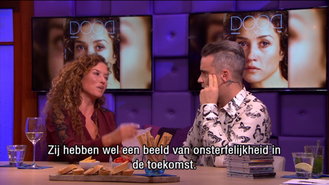 Katja Schuurman en Robbie Williams over glossy DOOD bij RT Late Night 3